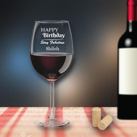 Personalised Birthday Wine Glass (Single)