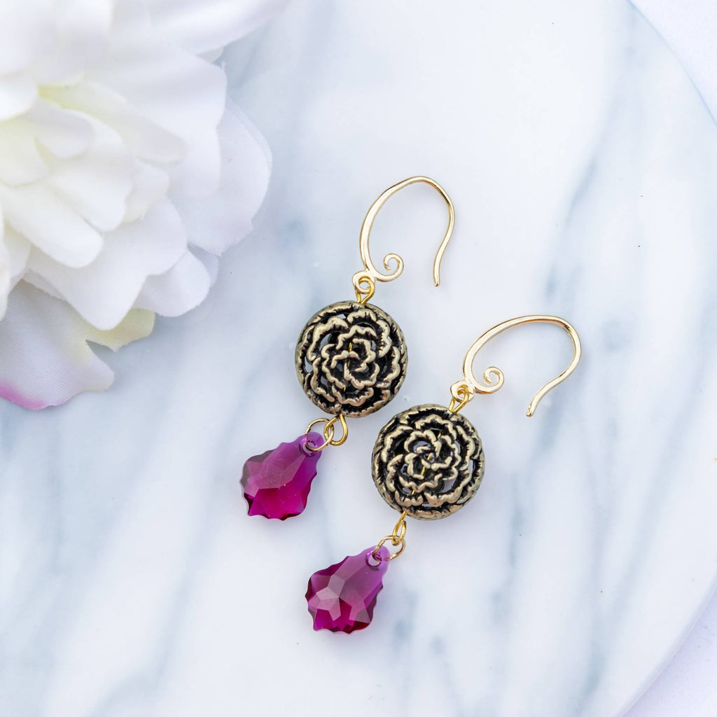 Glamour Ruby Rose Earring
