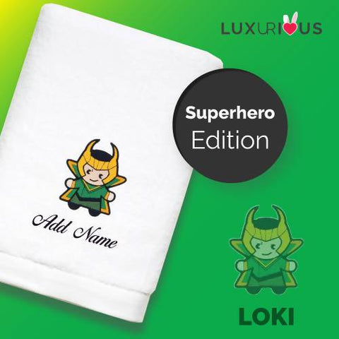 Personalised Towel | Superhero Loki