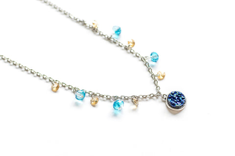Myth of Crystal Necklace and Bracelet Set  (4-10 working days)