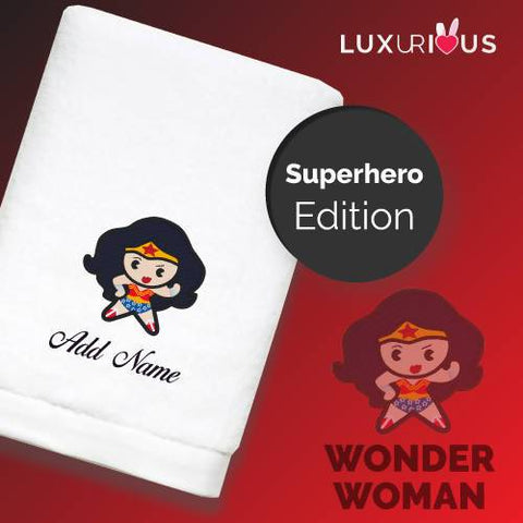Personalised Towel | Superhero Wonderwoman