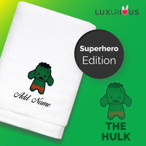 Personalised Towel | Superhero The Hulk