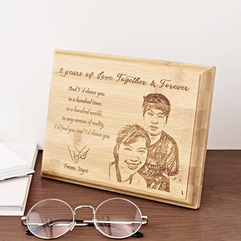 Personalized Bamboo Plaque (6-8 Working Days)