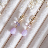 Candy Classy Purple Jade Handmade Earring (4-10 Working Days)