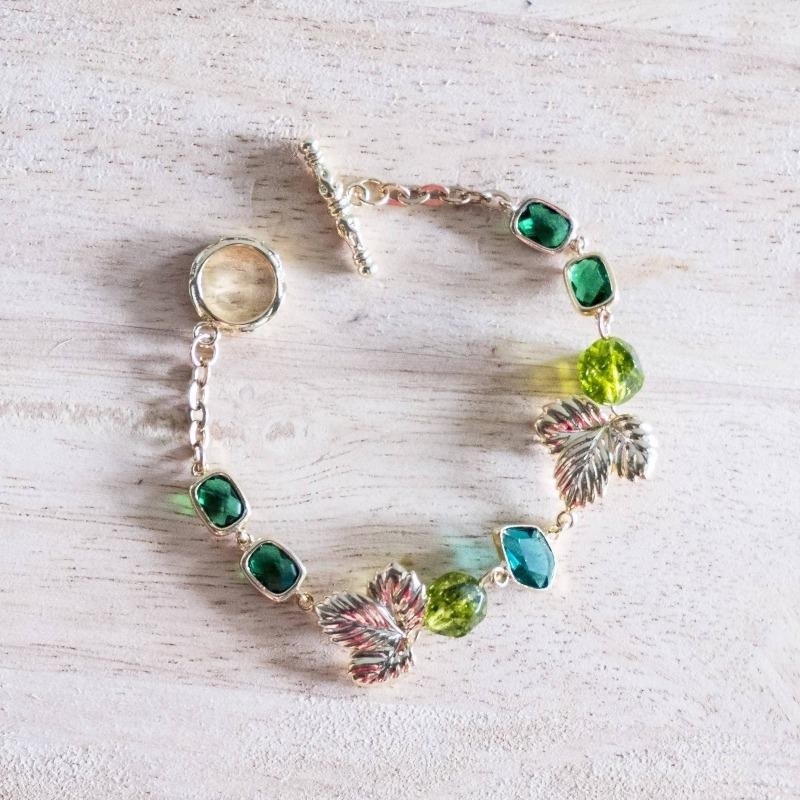 Emerald Series Handmade Gold Bracelet #2 (4-10 working days)