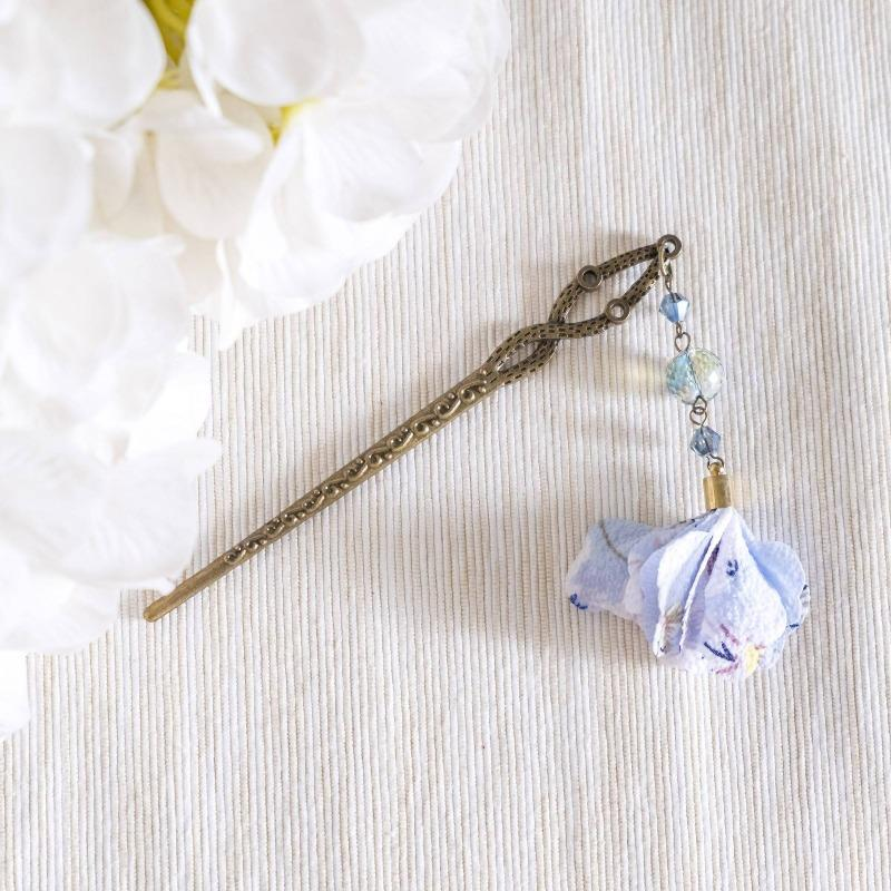 Modern Oriental #7 Flower Blue Hair Chopstick/Bookmark  (4-10 working days)