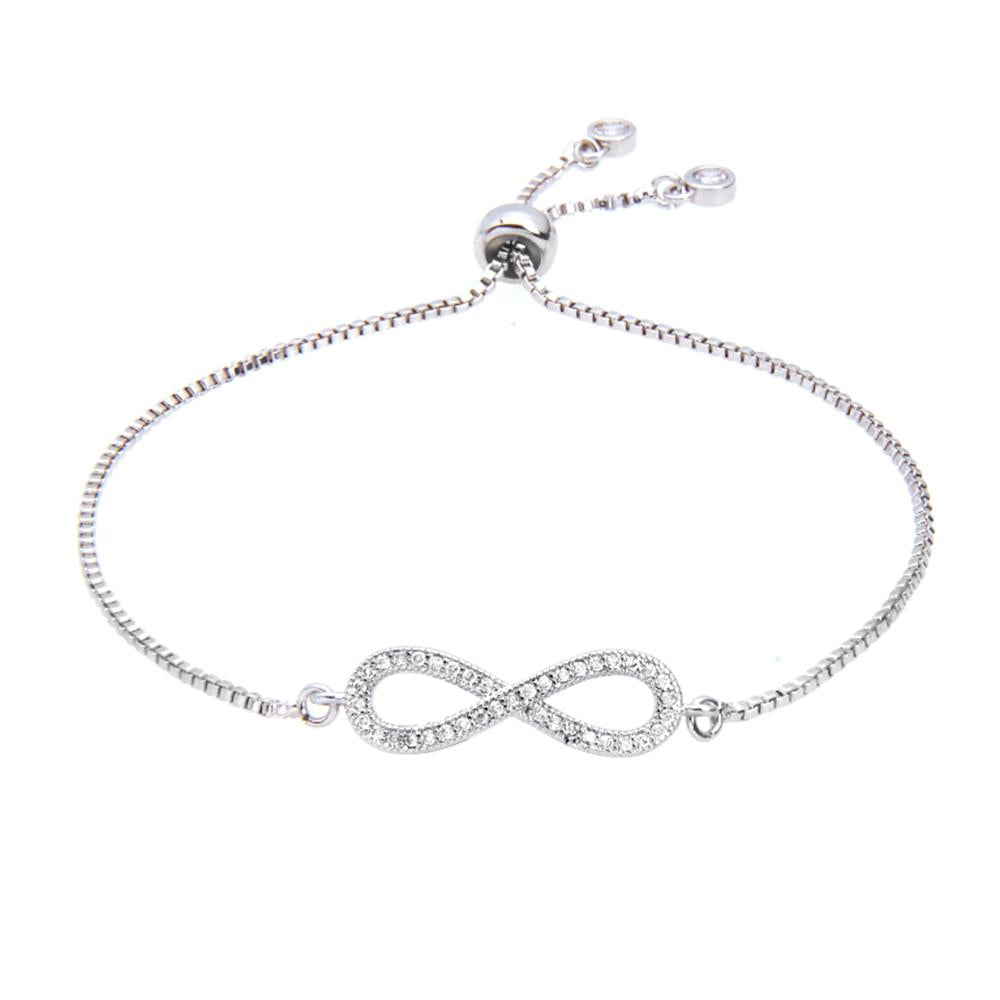 Kelvin Gems Luna Infinity Adjustable Chain Bracelet