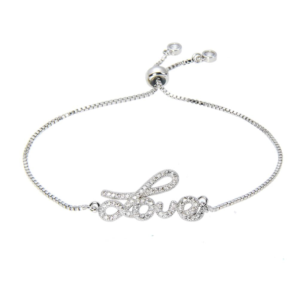 Kelvin Gems Luna Lovely Silver Adjustable Chain Bracelet