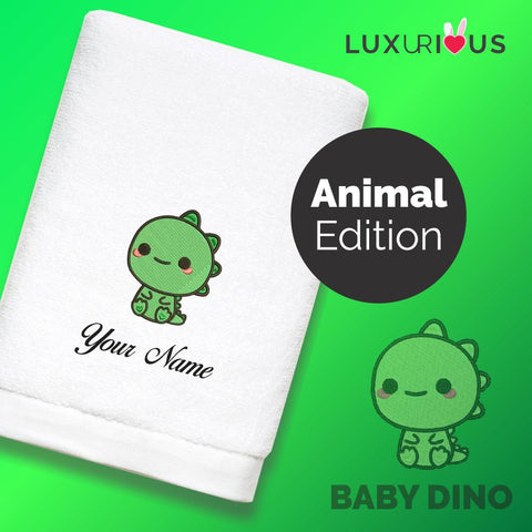 Personalised Towel Baby Dino