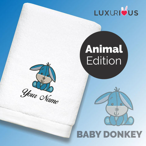 Personalised Towel Baby Donkey