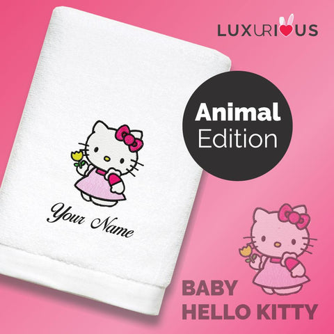 Personalised Towel Baby Hello Kitty