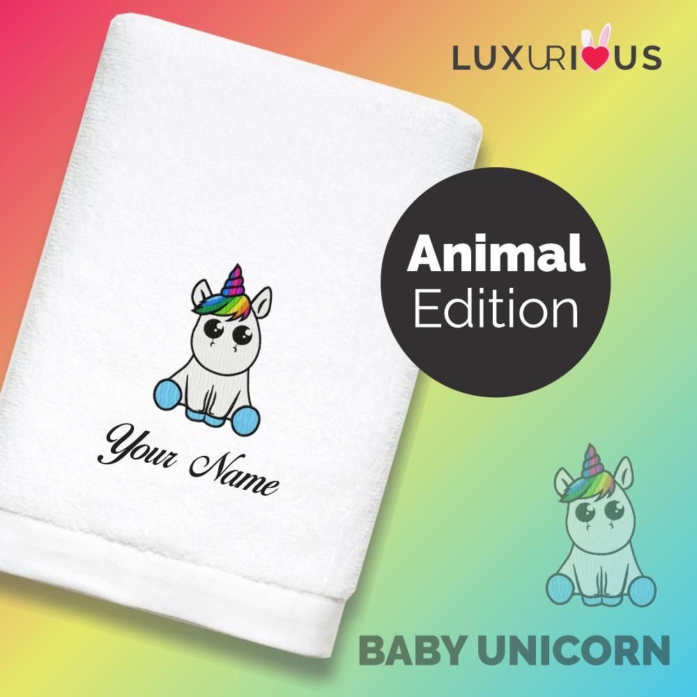 Personalised Towel Baby Unicorn