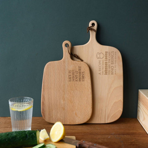 *Christmas 2020* Personalised Wooden Chopping Board with Wordings and Icon (Est. 6-8 Working Days)