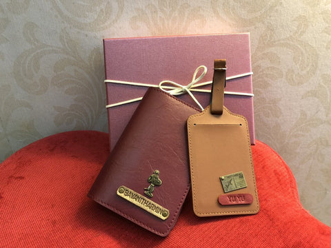 Personalised Passport Cover & Luggage Tag Set