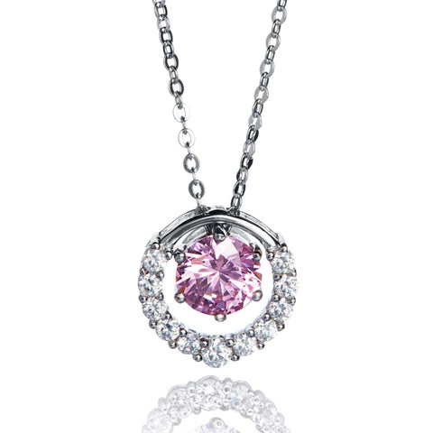 Angie Jewels Premium Multiway Pink Pendant Necklace
