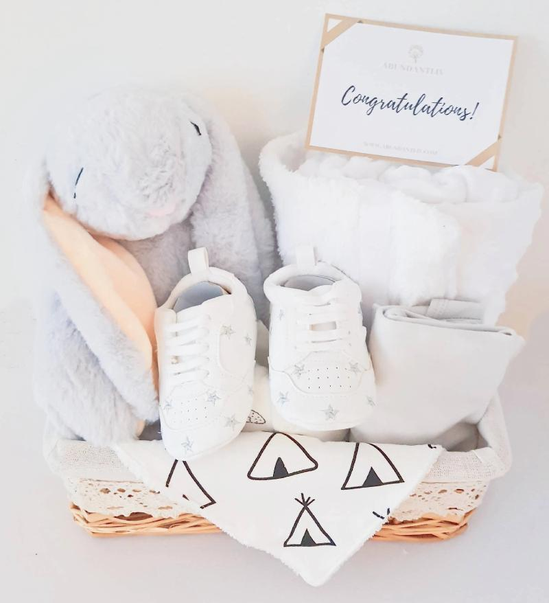 Bunny Gender Neutral Baby Gift Basket (Nationwide Delivery)