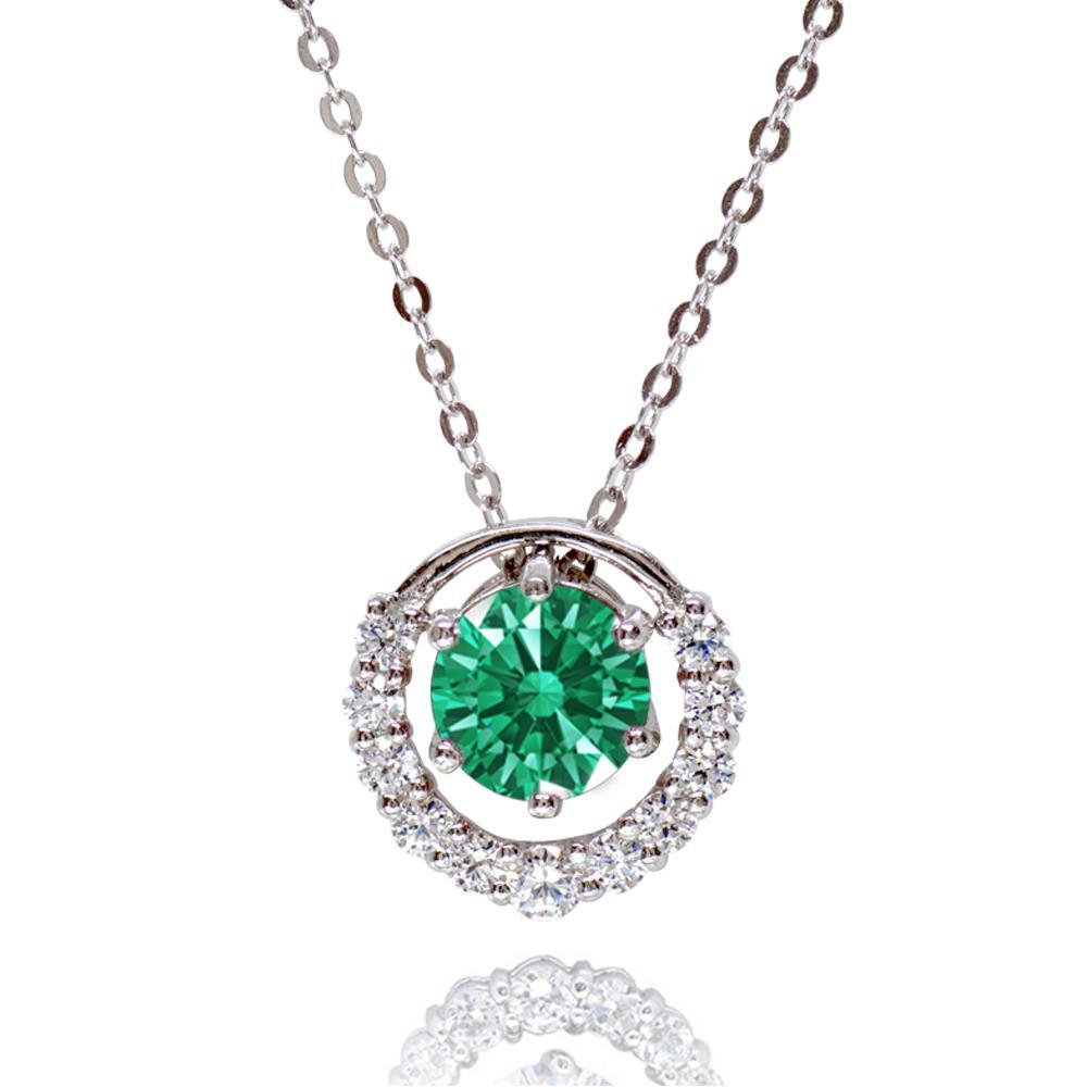 AJ Multiway Green Pendant Necklace Made With Swarovski Zirconia