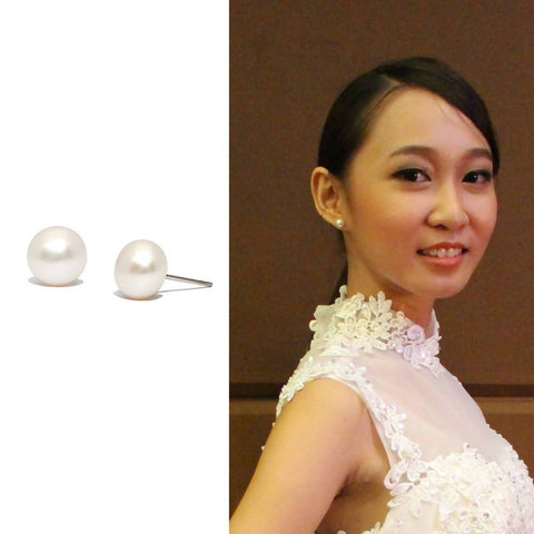 Angie Jewels Classic Only You Fresh Water Pearl Stud Earrings
