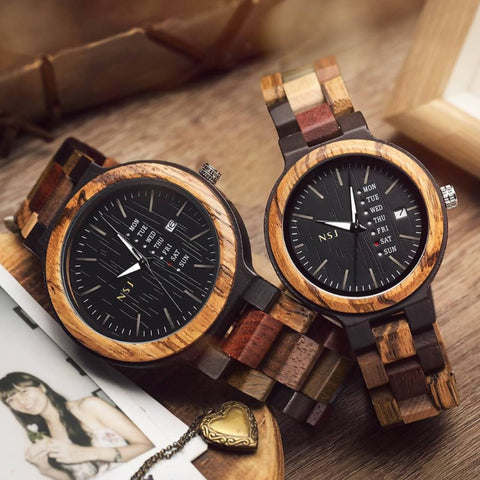 Personalized Wooden Watch – ColorL001AB (1 year warranty) (6-8 working days )