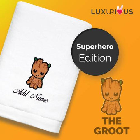 Personalised Towel | Superhero The Groot