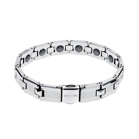Angie Jewels Luxury Healthcare Magnetic Bead Tungsten Bracelet