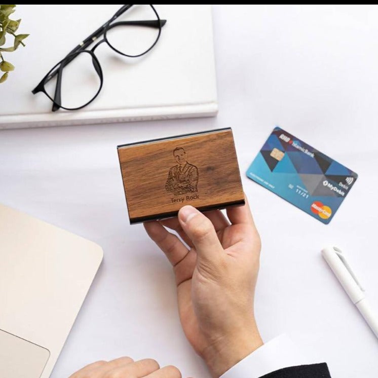 *Valentine's Day 2021* Personalized Wooden Credit Card Holder (Est. 6-8 working days)