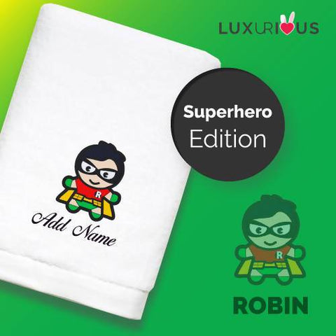 Personalised Towel | Superhero Robin