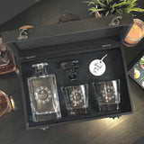 Personalized Whiskey Decanter Set (Design 1)