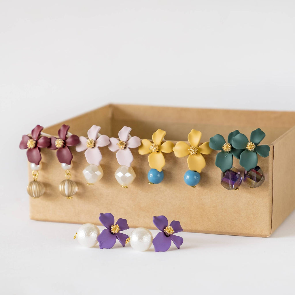 Flower Earrings Set of 5 (4-10 working days)