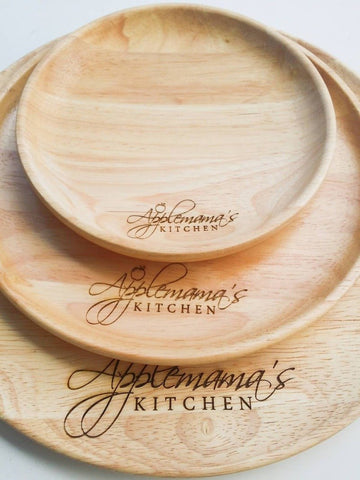 Personalized Wooden Plate Set