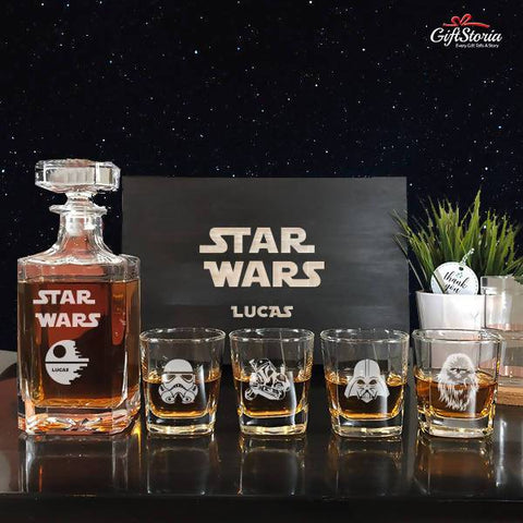 "Personalize ""Star Wars"" Whiskey Decanter Set"