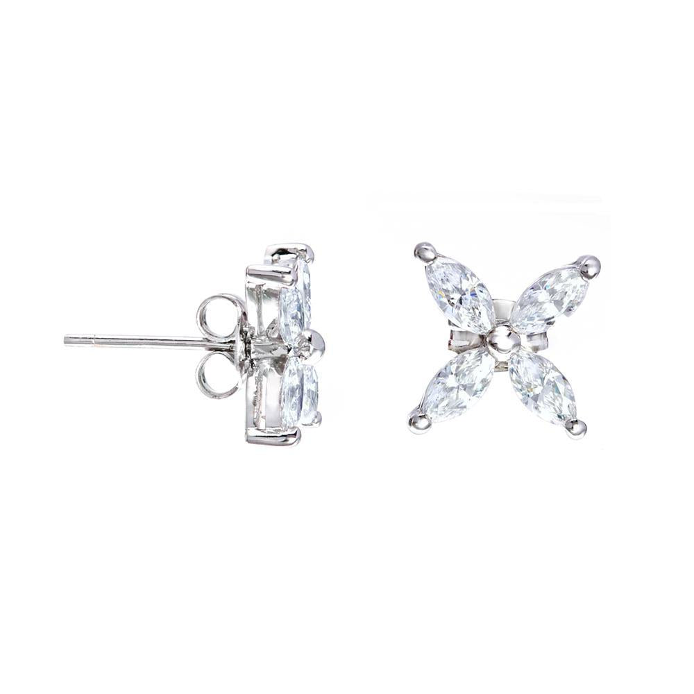 AJ Victorian Stud Earrings Made With Swarovski Zirconia