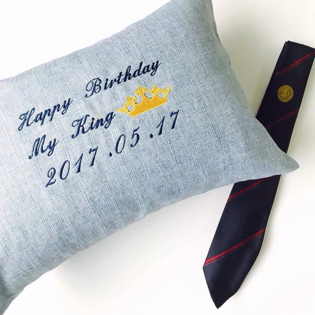 Personalised Linen Pillow (With Icon)