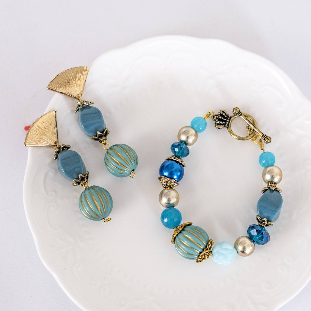 Aladdin Movie Inspired Set 6 (Earring and Bracelet)(4-10 working days)