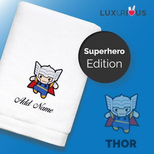 Personalised Towel | Superhero Thor