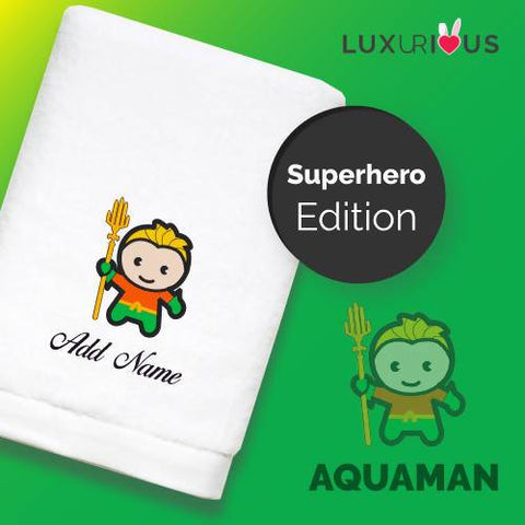 Personalised Towel | Superhero Aquaman