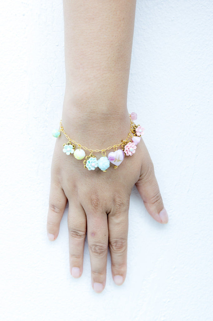 Pastel Floral #1 Flower Bracelet  (4-10 working days)