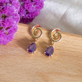 Luxe Purple-Spiral Amethyst Handmade Earring  (4-10 working days)