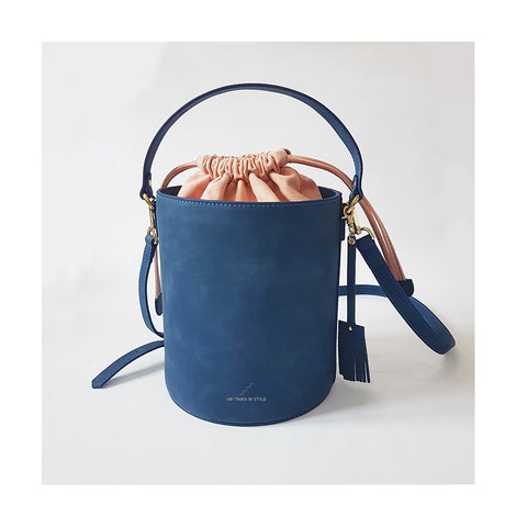 Big Chubby Bucket Bag (Blue)