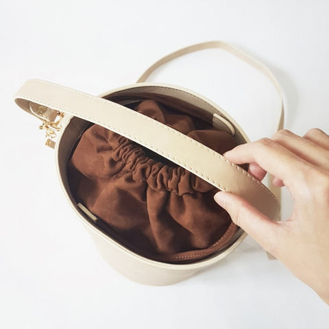 Big Chubby Bucket Bag (Light Tan)