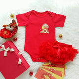 Lucky Pig in Lucky Bag Pocket Surname CNY GIRL Set (Baby Tutu+Gift Box)