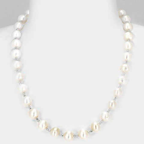 Angie Jewels Classic Light Natalie Fresh Water Pearl Necklace