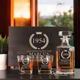 Personalized Whiskey Decanter Set (Design 3)
