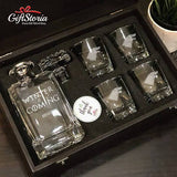 "Personalized ""Winter is Coming"" Whiskey Decanter Set"