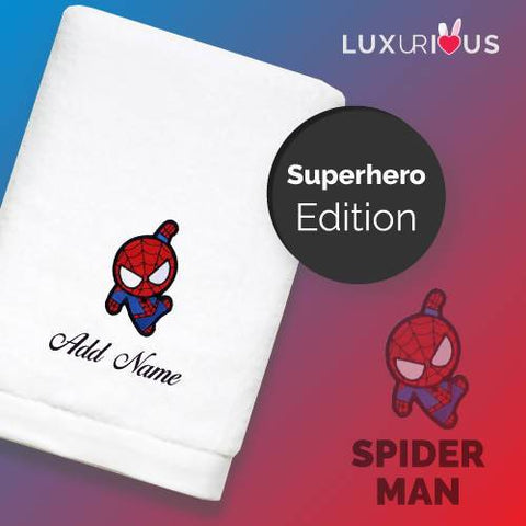 Personalised Towel | Superhero Spiderman