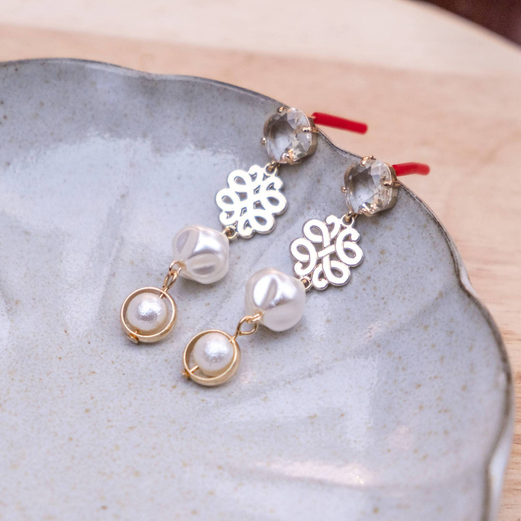 Lustrous Pearl Handmade Gold Earring (4-10 working days)