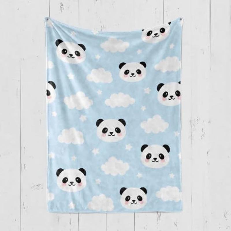 Personalized Blanket - Blue Panda (Nationwide Delivery)