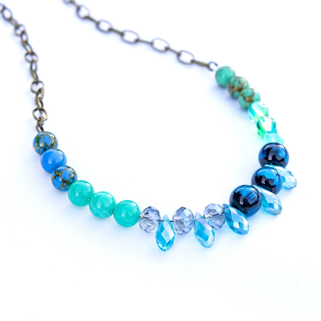 Vintage Mint Blue Necklace  (4-10 working days)
