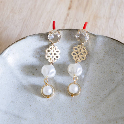 Lustrous Pearl Handmade Gold Earring (Mother's day 2020)