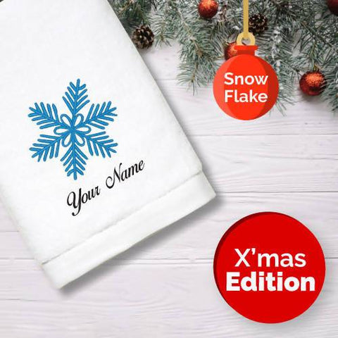Personalised Towel | X'mas Snow Flake